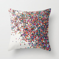 Fun II (NOT REAL GLITTER - photo) Throw Pillow by Galaxy Eyes | Society6