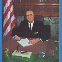 Ralph Locher, Mayor of Cleveland OH, 1965 re-election postcard, vintage campaign advertising