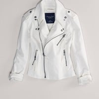 AE Denim Motorcycle Jacket | American Eagle Outfitters