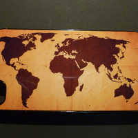 Hard iPhone Case Old World Map  Tape Custom by CreateItYourWay