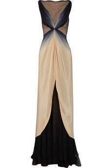 Zac Posen Ombr silk gown - 65% Off Now at THE OUTNET