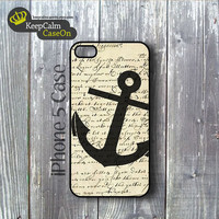 iPhone 5 Case Vintage Anchor iPhone Case Hard by KeepCalmCaseOn