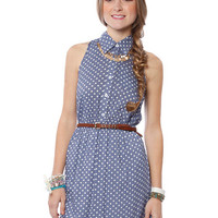 Papaya Clothing Online :: CROSS BACK POLKA DOT COLLAR DRESS