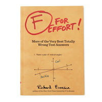 F FOR EFFORT BOOK