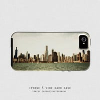 Chicago iPhone 5 case - Chicago skyline, iPhone 5 cover - Floating Outside Metropolis - Chicago print, urban iPhone 5 case