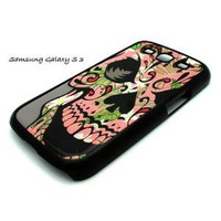 Amazon.com: BLACK Samsung Galaxy S3 SIII i9300 Snap On Case HAWAIIAN SKULL Floral sugar day dead S 3 III: Cell Phones & Accessories
