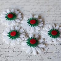 5 Felt Daisies (20pieces) on Luulla
