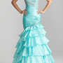 Sexy Beaded Organza Mermaid Party Prom Evening Gown Pageant Dresses Size Cust