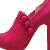 Pink Boots - Bqueen C&#x27;est Moi Boots Pink | UsTrendy