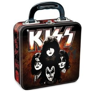 Vandor Kiss Square Tin Tote, 7.5 X 9.5 Inches, Multicolored (87070)