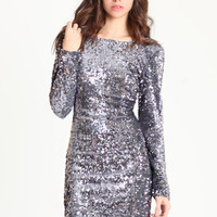 Gabby Sequin Dress in Charcoal by Motel - $103.00 : ThreadSence.com, Your Spot For Indie Clothing & Indie Urban Culture