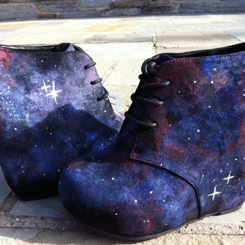 Reserved for emilymmackenzie Space Shoes by martianwho on Etsy
