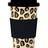 Amazon.com: C.R. Gibson Lolita Porcelain To Go Cup, Leopard: Kitchen & Dining