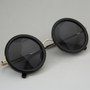 Black ROUND/CIRCLE Sunglasses by VintageSunnys on Etsy
