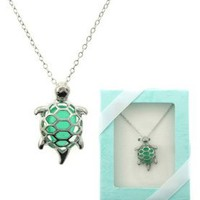 Jade Green Turtle Necklace Gift Boxed: Jewelry: Amazon.com