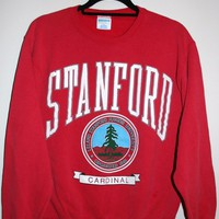 BeWorn  Vintage Red University of Stanford College Jumper