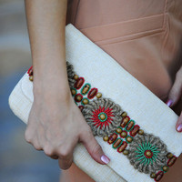 The Finishing Touch Clutch: Tan | Hope's