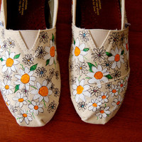 Crazy Daisy TOMS -  customized in your size, colors, shoes included