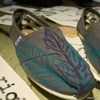 Feather TOMS Shoes, three