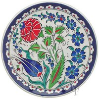 Iznik Design Ceramic Plate - Naturel Garden