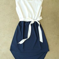 Navy La Sallee Colorblock Dress [2554] - $28.00 : Vintage Inspired Clothing & Affordable Fall Frocks, deloom | Modern. Vintage. Crafted.