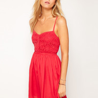 ASOS Summer Dress With Lace Top