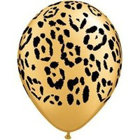 "Amazon.com: Single Source Party Supplies - 11"" Jungle Leopard Latex Balloons Bag of 10: Toys & Games"