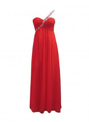 Shoulder Chiffon Dress on Red Chiffon Maxi Dress With Embellished One Shoulder On Wanelo