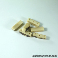 Splinter Bracelet 3H Tagua Bead | Tagua Bead for Beading Jewelry: Coins Side Drilled | EcuadorianHands.com