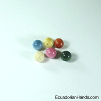 Pearl for Pendant 12mm Tagua Bead | Tagua Bead for Beading Jewelry: Pearls | EcuadorianHands.com