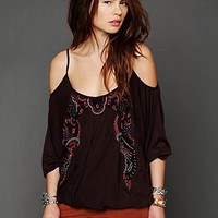 Free People Embellished Batwing Top