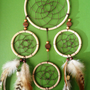 Dream Catcher - Large - Bohemian - Tribal - Brown, White, Tan
