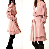 Breakfast at Tiffany's - Tencel layered trench coat (Y3103)