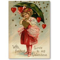 Vintage Valentine Love Notes Business Cards