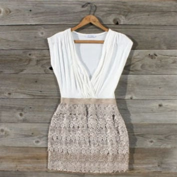 Tucked Lace Dress, Sweet Women's Country Clothing