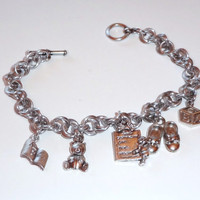 Baby Themed Charm Chainmaille Bracelet Handmade