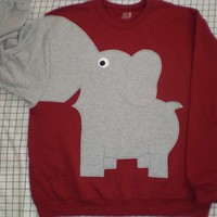 RED ELEPHANT TRUNK SLEEVE Sweatshirt mens Large
