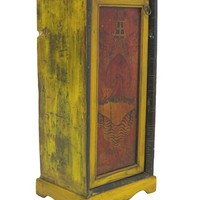 Antique Black/Red/Yellow Tibetan Cabinet