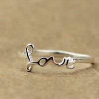 Love Silver Ring on Luulla