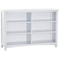 Horizontal Bookcase | Basics White Collection | Birch Hardwood | FOW