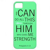 Philippians 4:13 NIV iPhone case