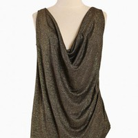 Cosmic Night Curvy Plus Draped Top