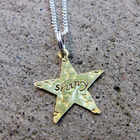 Firefly quote - Shiny - Hand Stamped Necklace    -Made to Order-