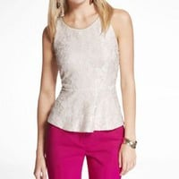 LACE PEPLUM SHELL TOP at Express