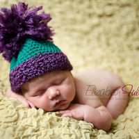 Dreaming Green and purple bucket style by HookinItbyBellaBeanz