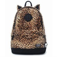 Cute Ear Leopard Backpack on Luulla