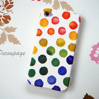 Rainbow Dot - iPhone 4 Case , iPhone 4s Case , iPhone 3g , 3gs , Samsung galaxy S2 , Case
