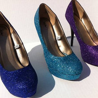 Made to Order Glitter High Heeled Pumps - Any size, color, and style