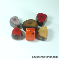 Shank Tagua Bead | Tagua Bead for Beading Jewelry: Nuts | EcuadorianHands.com