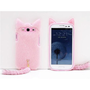 Amazon.com: 3D Cute Fluffy Tail Cat TPU Case Cover Skin for Samsung Galaxy S3 i9300 Pink: Cell Phones &amp; Accessories